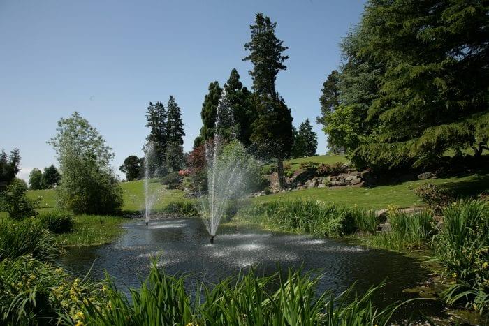 Washington Memorial cemetery water feature in SeaTac