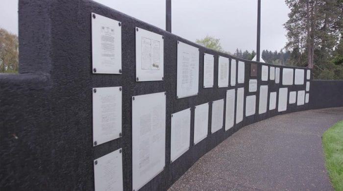 Plaques in POW/MIA Memorial Plaza in Washington Memorial cemetery