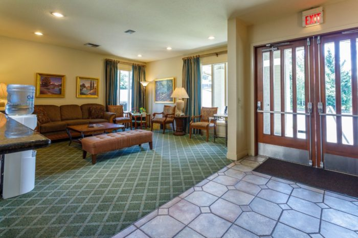 Comfortable lobby at SeaTac funeral home