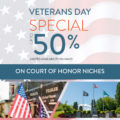 Veterans Day promotion from BONNEY WATSON graphic
